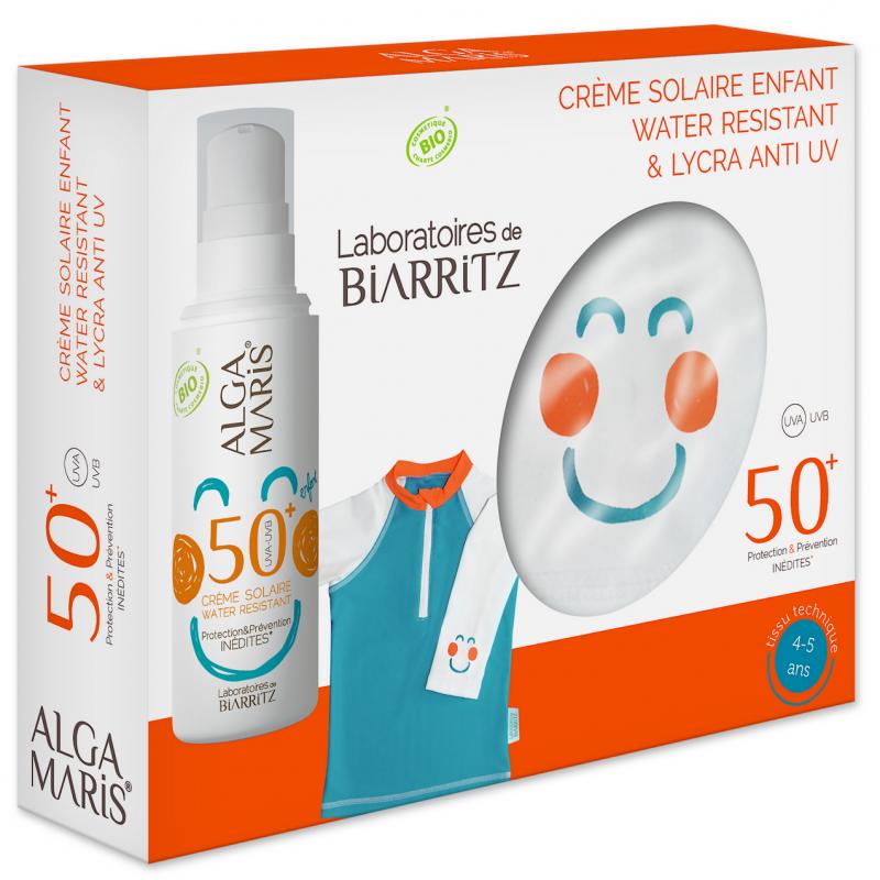 SPF 50+ Krem solar per femije 50 ml + BLUZE kunder rrezeve UV Alga Maris (4-5 vjec)